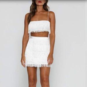 e0463172fbce3 Meshki Other - Meshki Sofia Fringe Crop Top   Skirt Set